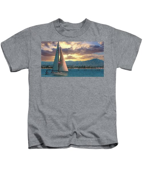 Sailing In San Diego Kids T-Shirt