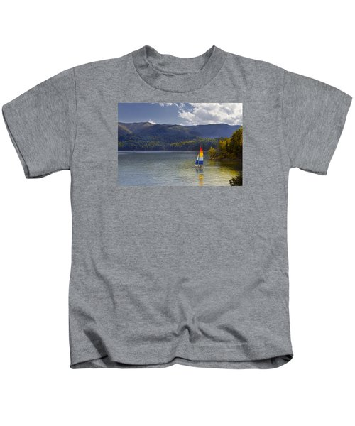 Sailing The Mountain Lakes Kids T-Shirt