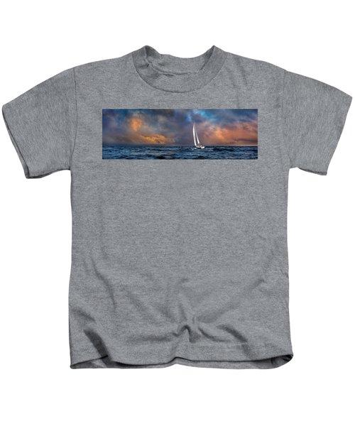 Sailing The Wine Dark Sea Kids T-Shirt