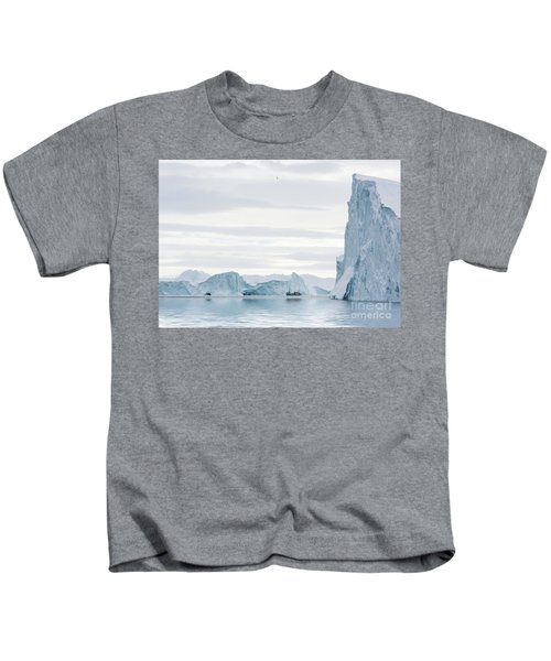 Sailing Through  The Icefjord Kids T-Shirt