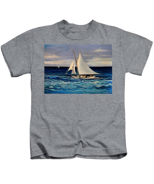 Sailing With The Waves Kids T-Shirt