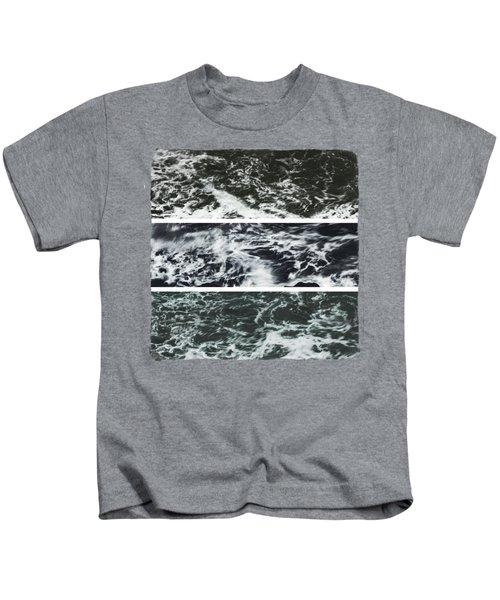 Saltwater Triptych Variation 3 Kids T-Shirt