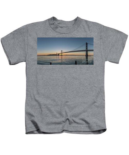 San Francisco Bay Brdige Just Before Sunrise Kids T-Shirt