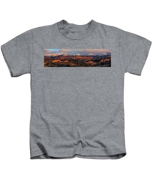 Sand Flats Sunset Kids T-Shirt