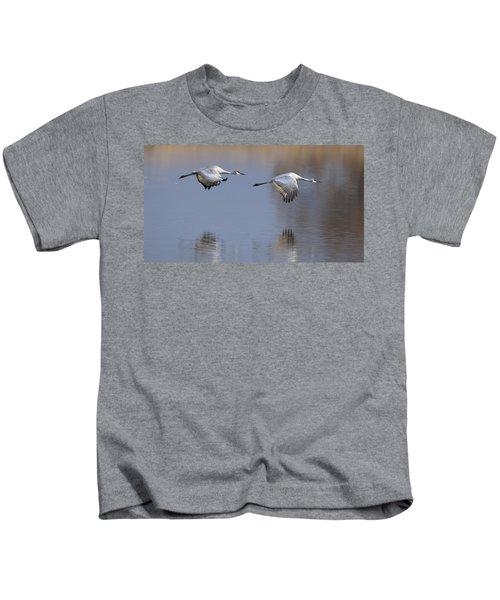 Sandhill Crane Returning Kids T-Shirt