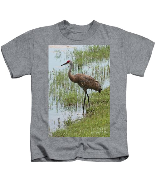 Sandhill In The Marsh Kids T-Shirt