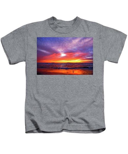 Sandpiper Sunset Ventura California Kids T-Shirt