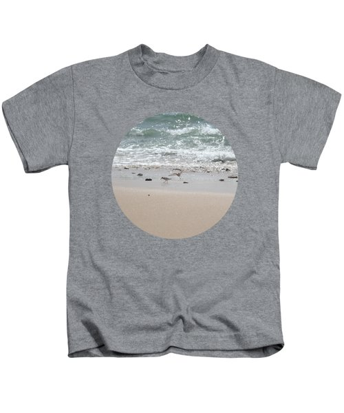 Sandpipers In Tideland Kids T-Shirt