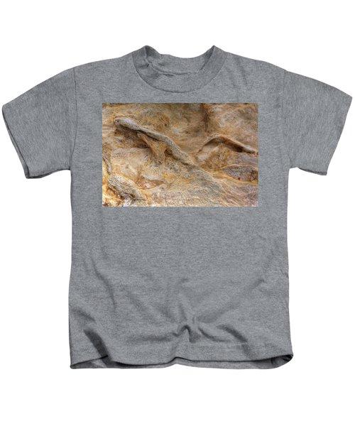 Sandstone Formation Number 4 At Starved Rock State Kids T-Shirt