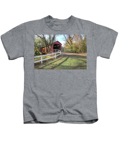 Sandy Creek Covered Bridge Kids T-Shirt