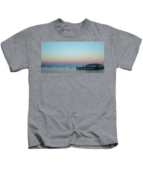 Santa Barbara Pier At Dusk Kids T-Shirt