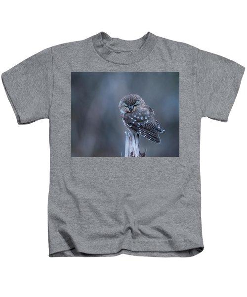 Saw-whet Owl Kids T-Shirt