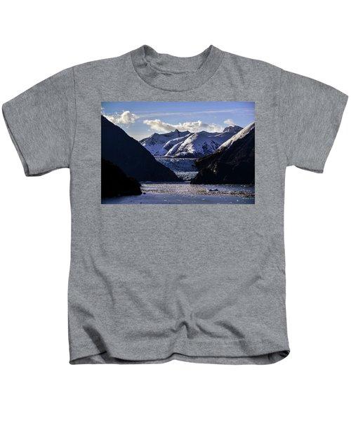 Sawyer Glacier In Tracy Arm Fjord Kids T-Shirt