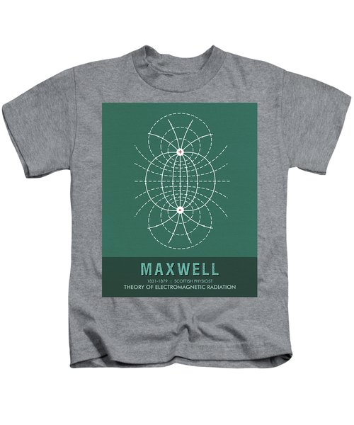Science Posters - James Clerk Maxwell - Physicist Kids T-Shirt