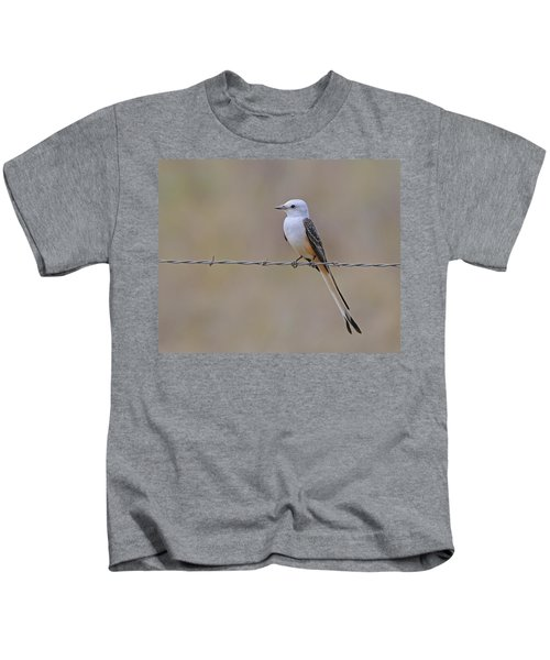 Scissor-tailed Flycatcher Kids T-Shirt by Tony Beck