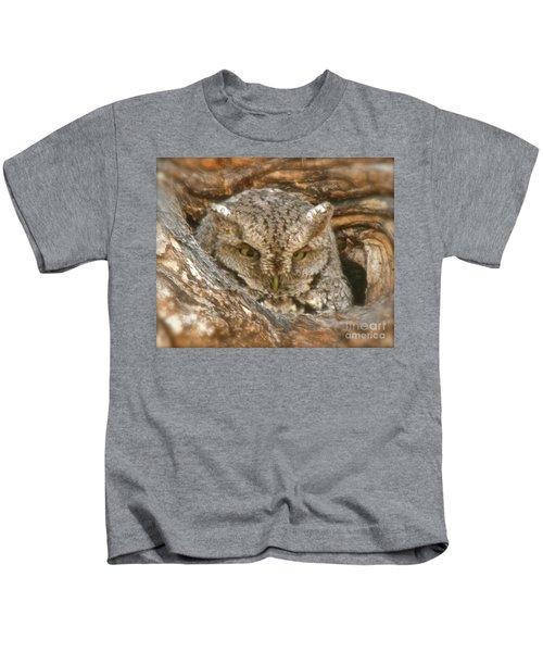 Screech Owl On Spring Creek Kids T-Shirt