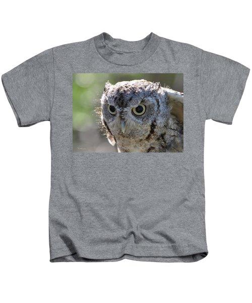 Screechowl Focused On Prey Kids T-Shirt