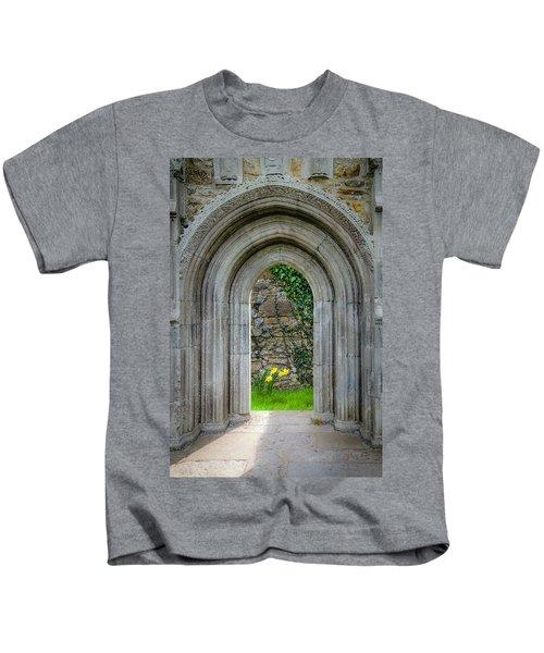 Kids T-Shirt featuring the photograph Sculpted Portal To Irish Spring Garden by James Truett