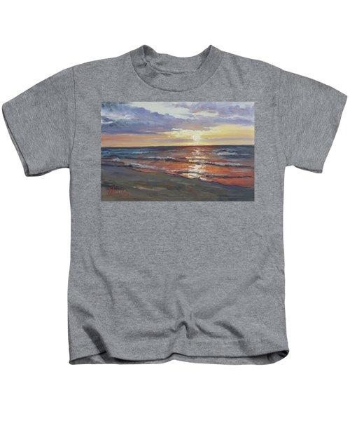 Sea Beach 8 - Baltic Sunset Kids T-Shirt