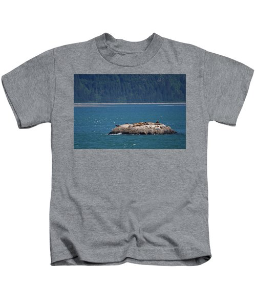 Sea Lion Island, Alaska Kids T-Shirt