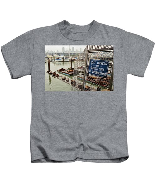 Sea Lions Take Over, San Francisco Kids T-Shirt