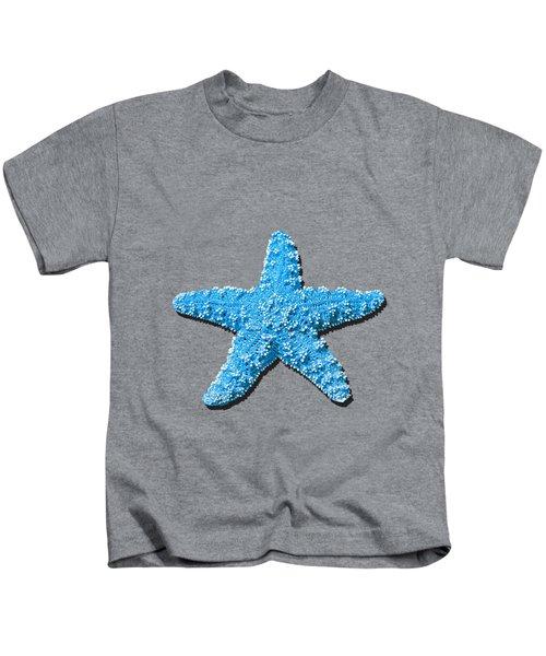 Sea Star Light Blue .png Kids T-Shirt