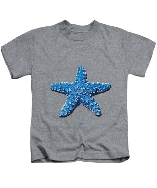 Sea Star Medium Blue .png Kids T-Shirt