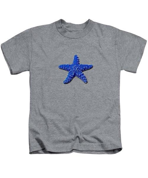 Sea Star Navy Blue .png Kids T-Shirt