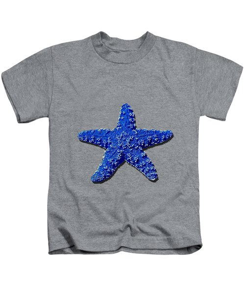 Sea Star Navy Blue .png Kids T-Shirt