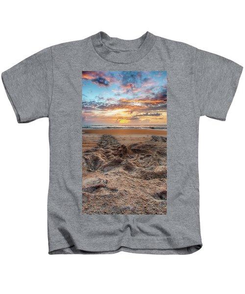 Sea Turtle Trails Kids T-Shirt