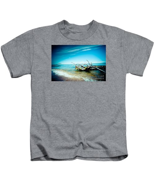 Seacost With Old Tree In Water Kolka Kids T-Shirt