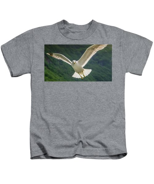 Seagull At The Fjord Kids T-Shirt