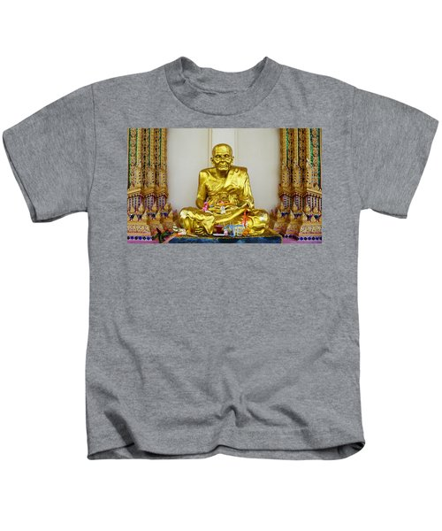 Seated Holy Man At Koh Samui Kids T-Shirt