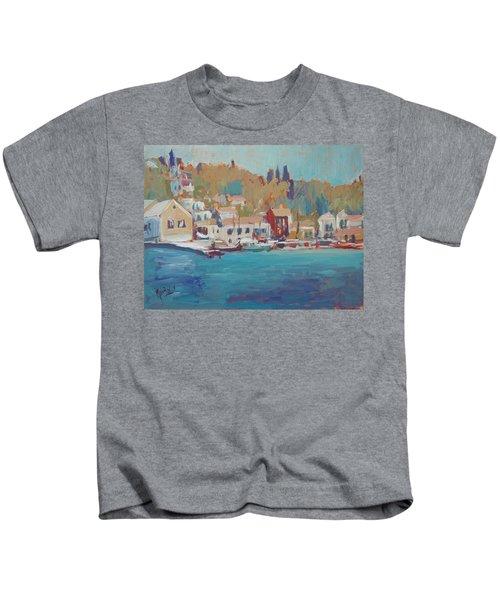 Seaview Lggos Paxos Kids T-Shirt by Nop Briex