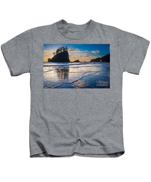 Second Beach Waves Kids T-Shirt