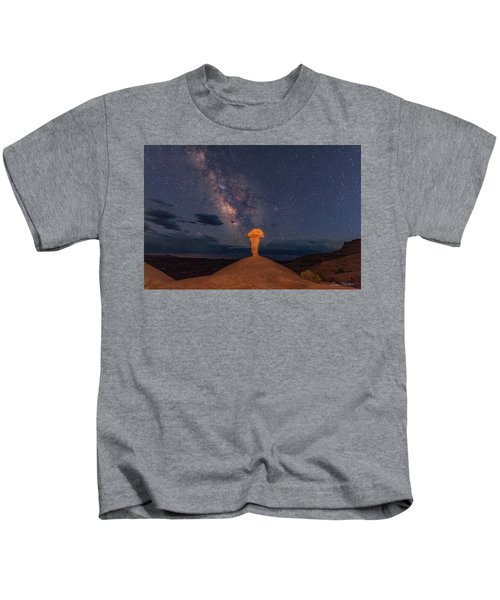 Secret Spire And The Milky Way Horizontal Kids T-Shirt