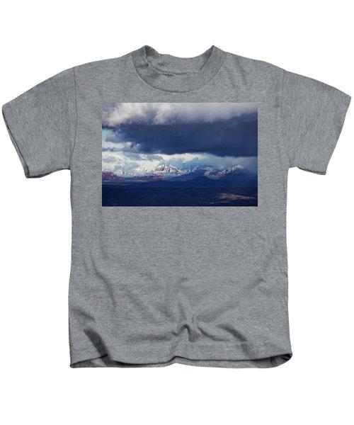 Sedona Area Third Winter Storm Kids T-Shirt