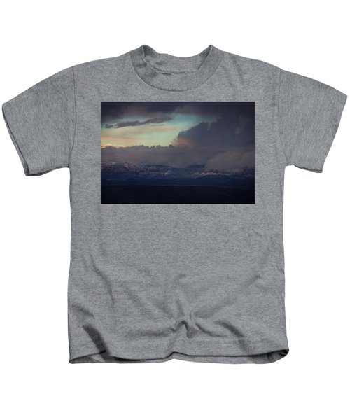 Sedona At Sunset With Red Rock Snow Kids T-Shirt
