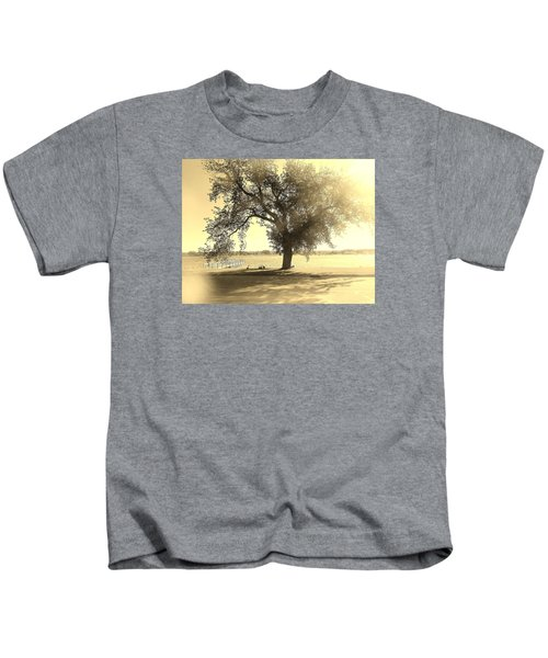 Sepia Colors In A Tree Kids T-Shirt