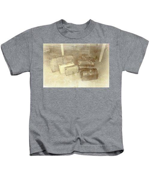 Several Vintage Bags On Floor Kids T-Shirt