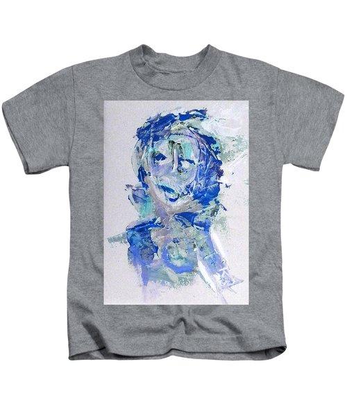 She Dreams In Blue Kids T-Shirt
