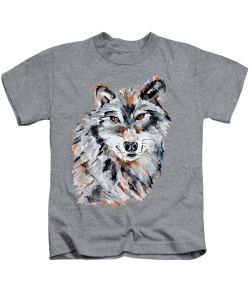 She Wolf - Animal Art By Valentina Miletic Kids T-Shirt