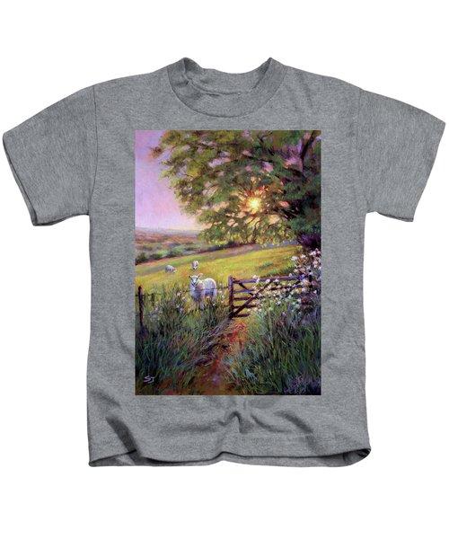 Sheep At Sunset Kids T-Shirt