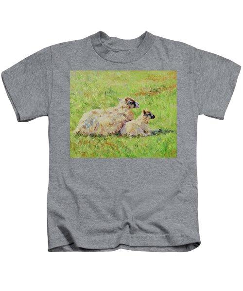 Sheep In The Spring Time,la Vie Est Belle Kids T-Shirt