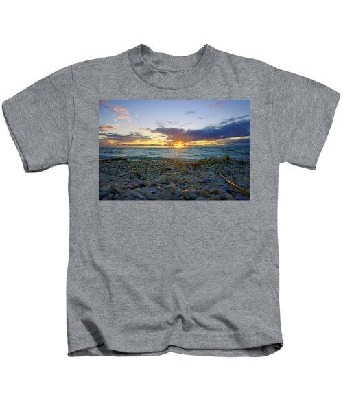 Shells On The Beach At Sunset Kids T-Shirt