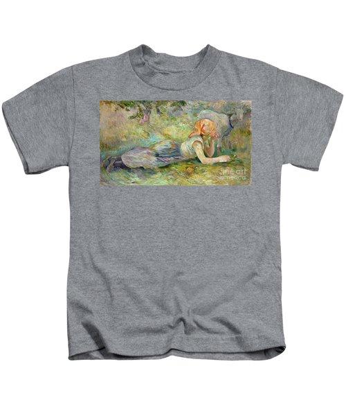 Shepherdess Resting Kids T-Shirt