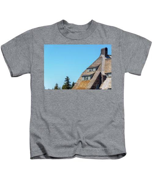 Side Of Timberline Lodge Kids T-Shirt