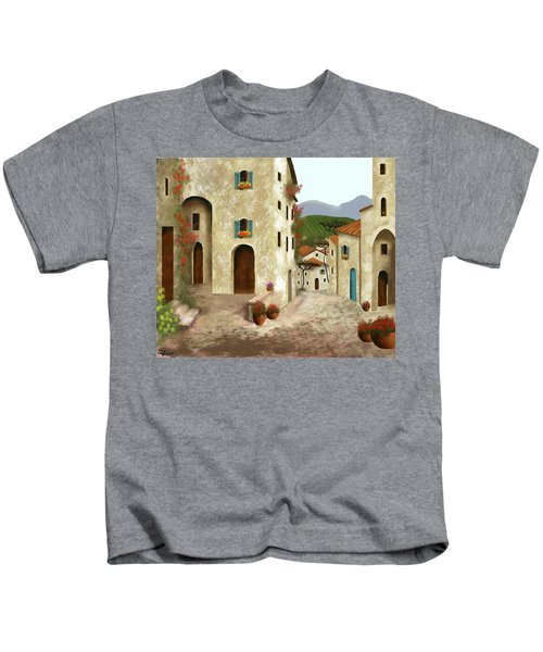 side streets of Tuscany Kids T-Shirt