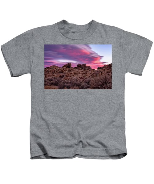 Sierra Clouds At Sunset Kids T-Shirt