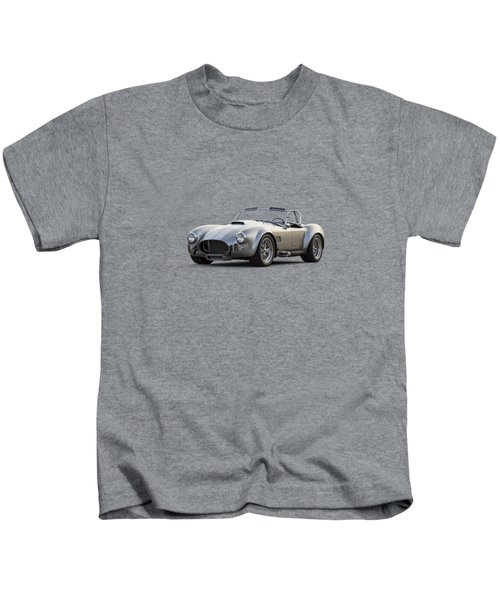 Silver Ac Cobra Kids T-Shirt by Douglas Pittman